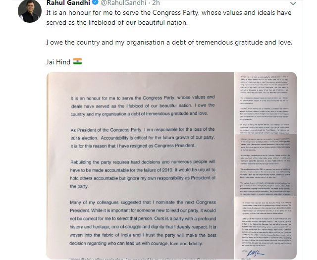 Rahul Gandhi Resignation: Ten key points from Gandhi's