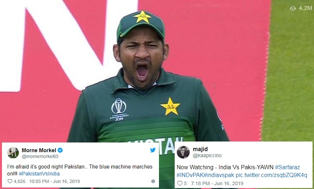 Pakistani fans epic reaction on Twitter after losing to India in