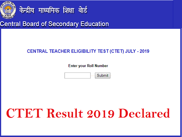 CTET Result 2019 (July) @ cbseresults nic in: What's next
