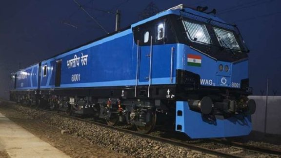 Image result for PM Modi launches India's first all-electric superfast train engine in Bihar