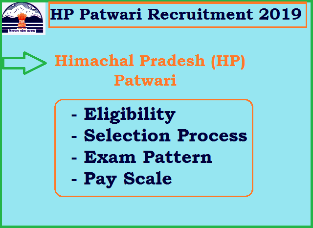 HP Patwari Recruitment 2019: Salary, Eligibility, Dates