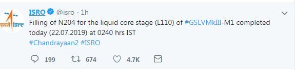 Chandrayaan 2 Mission Countdown Begins Launch at 2.43 pm today