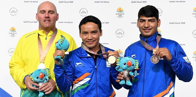 Jitu Rai claims Gold in 10m men's air pistol, Mitharva wins bronze