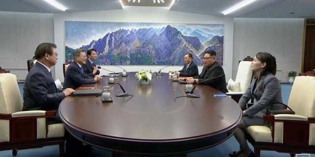 Leaders of two Koreas meet in historic summit