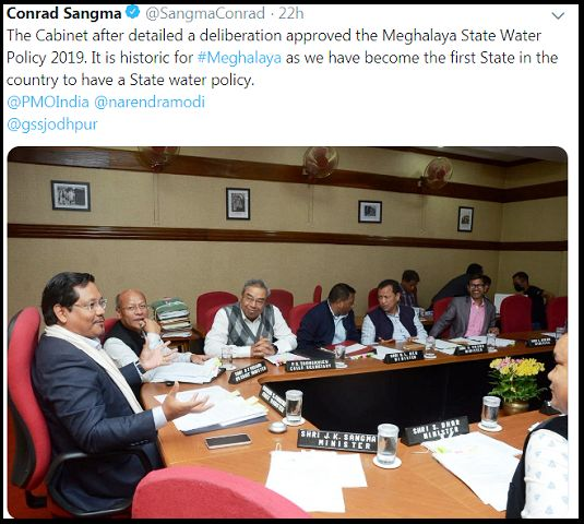 Meghalaya Water Policy 2019