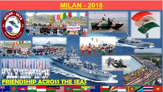 Image result for अंडमान निकोबार में सबसे बड़े समुद्री नौसैनिक अभ्यास मिलन-2018 का आयोजन