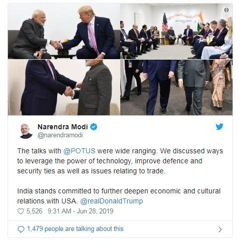 PM Modi meets Donald Trump talks 5G, Defence, Trade