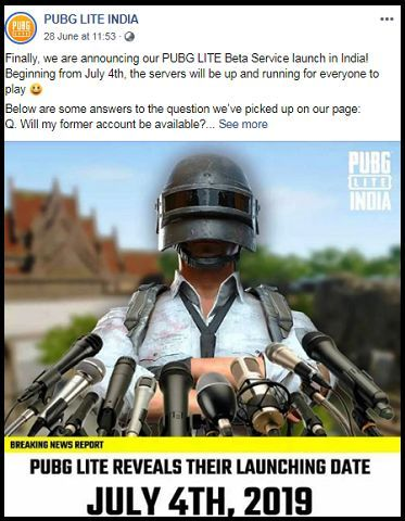 PUBG Lite to be available from July 4 with Hindi Language option
