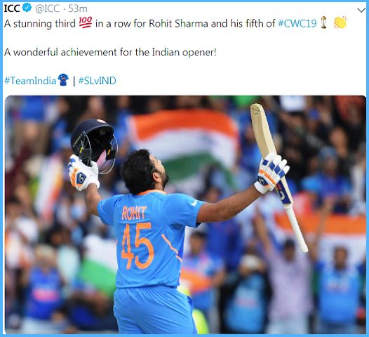 World Cup 2019 Record: Rohit Sharma becomes 2nd Indian