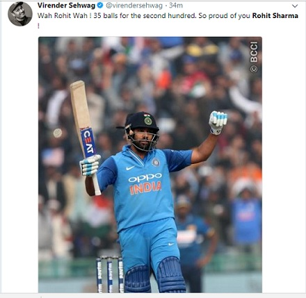 Rohit Sharma becomes 1st batsmen to score 3 ODI double centuries